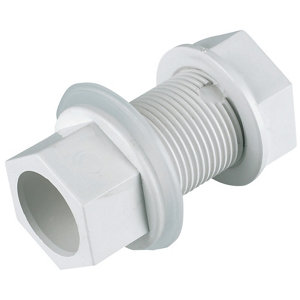 Image of FloPlast Solvent weld Straight Waste Tank connector (Dia)21.5mm