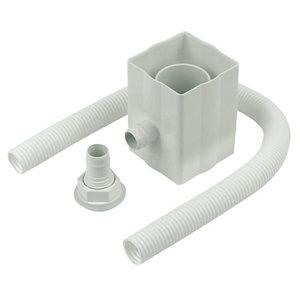 Image of FloPlast White Round & square Gutter diverter