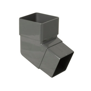 Image of Anthracite grey Square 112.5° Offset Downpipe bend