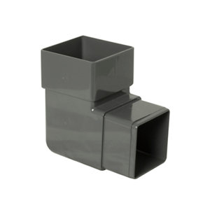 Image of Anthracite grey Square 92.5° Offset Downpipe bend