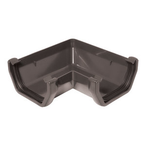 Image of Anthracite grey Square 90° Gutter angle