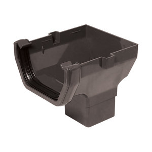 Image of Anthracite grey Square Gutter length (L)0.14m
