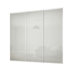 Image of Classic Arctic white 3 door Sliding Wardrobe Door kit (H)2260mm (W)2216mm