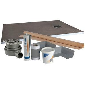 Image of Aquadry Shower tray kit (L)1200mm (W)900mm