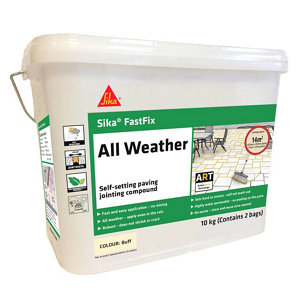 Image of Sika FastFix Ready mixed Buff Paving Grout 10kg Bag
