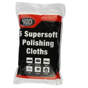 Image of Auto Pro White Polishing cloth Pack of 5