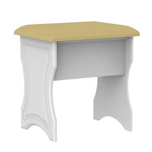 Polar White Dressing table stool (H)510mm