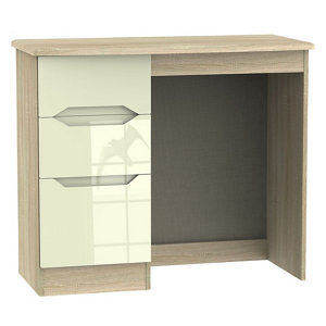 Image of Monte carlo Cream oak effect 3 Drawer Dressing table (H)760mm (W)970mm (D)395mm