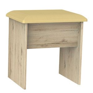 Image of Como Grey Oak effect Dressing table stool (H)510mm