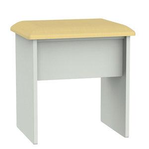 Image of Lugano Grey Dressing table stool (H)510mm