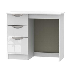 Image of Chelsea Gloss white 3 Drawer Desk (H)795mm (W)930mm (D)415mm
