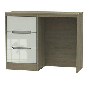 Nantes Satin cashmere oak effect 3 Drawer Small Desk (H)795mm (W)930mm (D)415mm