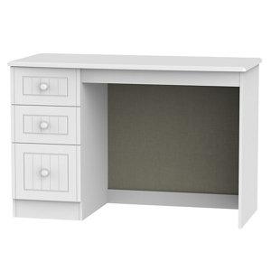 Warwick Matt white 3 Drawer Desk (H)795mm (W)1200mm (D)540mm