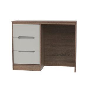 Image of Nantes Satin cashmere oak effect 3 Drawer Large Desk (H)795mm (W)1200mm (D)540mm