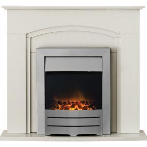 Image of Adam Devon Cream Electric Fire Suite