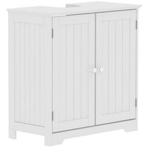 Image of Lassic Rebecca Jones Matt White Double door Sink cabinet (W)600mm