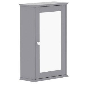 Image of Lassic Rebecca Jones Matt Grey Mirrored Single door Wall Cabinet (W)340mm (H)530mm