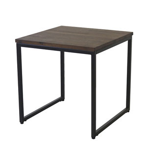 Image of Atico Dark stained wood effect Side table (H)40cm (W)40cm
