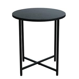 Image of Oscuro Matt black Side table (H)45cm (W)40cm