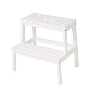 GoodHome 2 tread Timber Step stool (H)0.4m