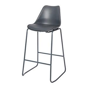 GoodHome Marula Dark grey Bar stool