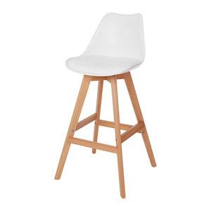 GoodHome Pitaya White Bar stool