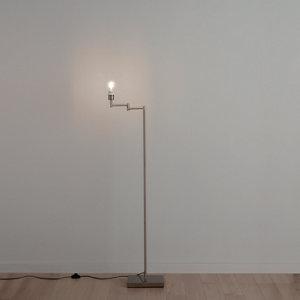 GoodHome Jabisen Brushed Chrome effect Floor lamp base