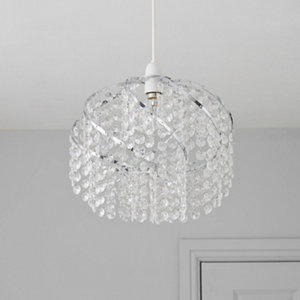 Image of Carbuccia Clear Beaded Light shade (D)300mm