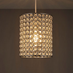 Image of Clear Beaded Light shade (D)160mm