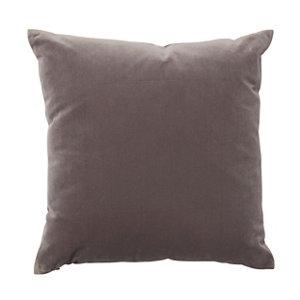 Image of Valgreta Plain Light grey Cushion