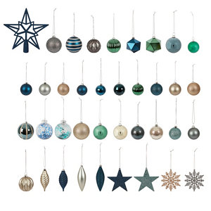 Image of Art deco Assorted Multicolour Bauble Pack of 120
