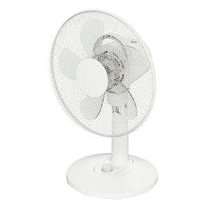 """Image of GoodHome White 13"""" 32W Desk fan"""