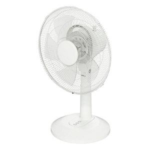 """Image of GoodHome White 14"""" 35W Desk fan"""