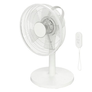 """Image of GoodHome White 14"""" 40W Blow Table fan"""