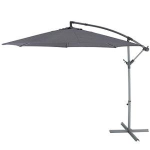 Malta 2.98m Steel grey Overhanging parasol