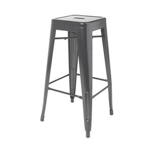 GoodHome Branza Grey Bar stool