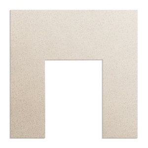 Image of Aurora Beige stone Marble Back panel (H)940mm (W)940mm