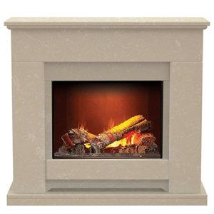 Image of Aurora Elsdon Roman stone Electric Fire Suite