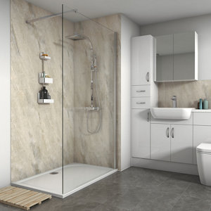 Splashwall Gloss Byzantine Shower Panel (H)2420mm (W)1200mm (T)11mm