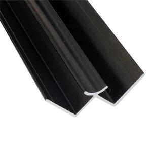 Image of Splashwall Black Panel internal corner joint (L)2420mm
