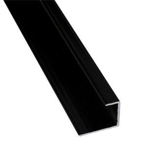 Image of Splashwall Black Panel end cap (L)2420mm