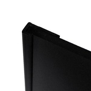 Image of Splashwall Black Straight Panel end cap (L)2440mm