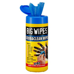 Image of Big Wipes Scrub & clean Unscented Wipes Pack of 40