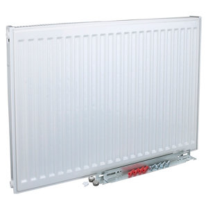 Image of Kudox Type 11 Single Panel Radiator White (W)1000mm (H)600mm