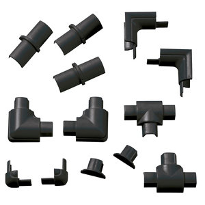 Image of D-Line Black 16mm Micro trunking accessory Pack of 13