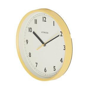 Image of Jones Dime Contemporary Yellow Quartz Clock