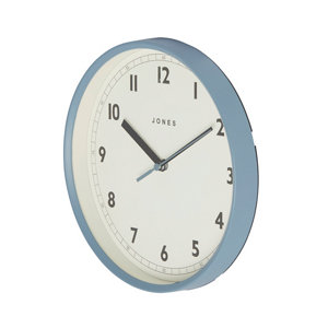 Image of Jones Dime Contemporary Old boat blue Clock