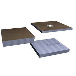 Image of Aquadry Wetzone Shower tray kit (L)1850mm (W)900mm (H)150mm