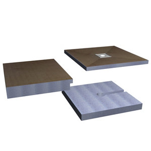 Image of Aquadry Wetzone Shower tray kit (L)1850mm (W)750mm (H)150mm