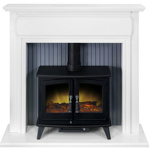Image of Adam Florence White Electric Fire